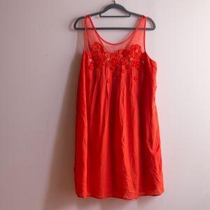 Anthropologie Boho Embroidered Dress
